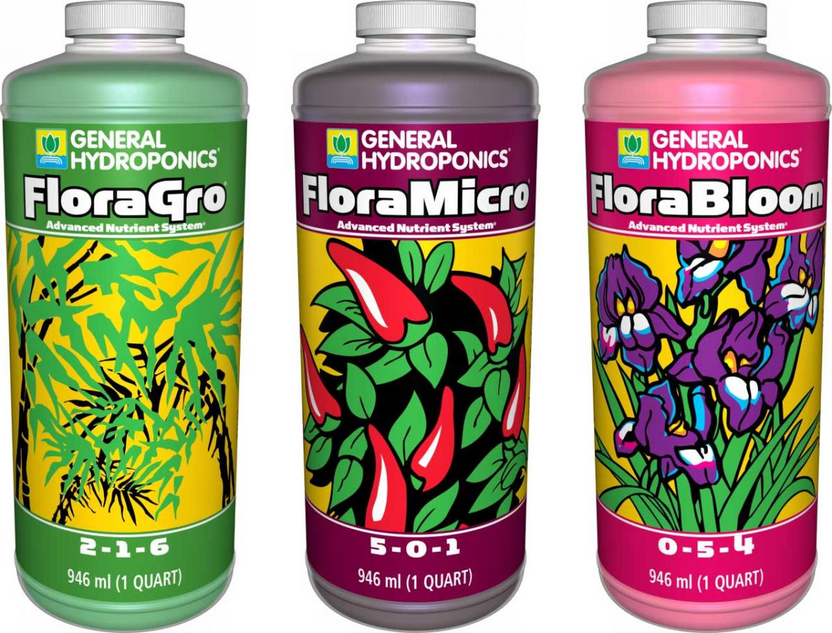 KIT FERTILIZANTE MINERAL GH FLORA SERIES BÁSICO