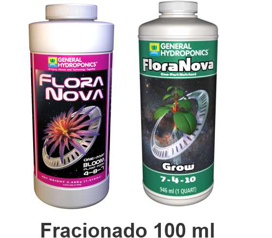 KIT FERTILIZANTE MINERAL GH FLORANOVA GROW + BLOOM 100ML