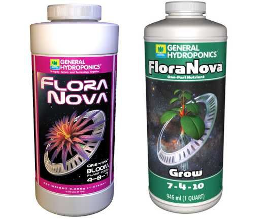 KIT FERTILIZANTE MINERAL GH FLORANOVA GROW + BLOOM 946ml