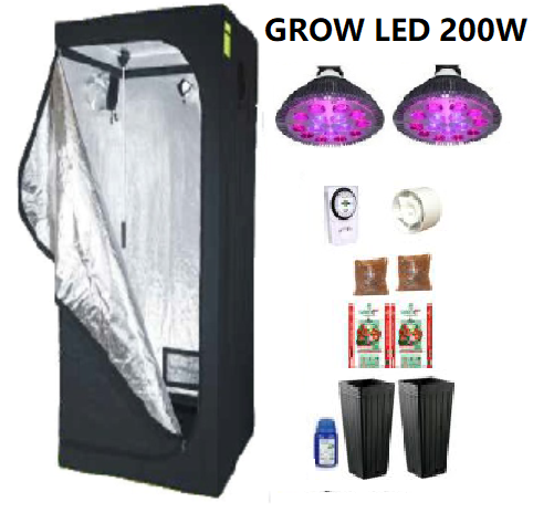 KIT PRO BOX 60 GROW LED 200W