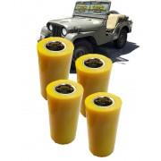 Bucha Feixe de Mola Ldo Fixo Jeep Willys Cj3/ Cj5 Em Poliuretano - 4 Unidades