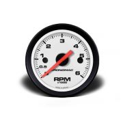 Contagiros 52mm 6000 RPM - Street Branco