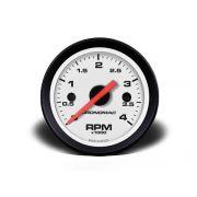 Contagiros 52mm Diesel 4000 RPM - Street Branco