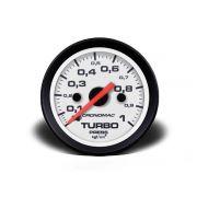 Indicador Turbo 60mm Mecânico 1 kg - Street Branco