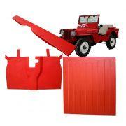Assoalho Para Jeep Willys Cj2a Cj3a Cj3b - Kit