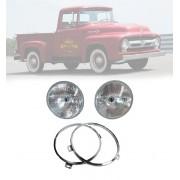 Kit Ford F100, Bloco Farol, Aro Interno ano 1948 à 1960 Par