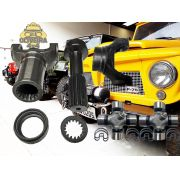 Kit Luva + Ponteira+garfo Cardan Jeep Willys / Rural / F75
