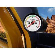 Kit Manometro Relógio Pressão Turbo 2kg Com Faixa - Troller T4 - SB