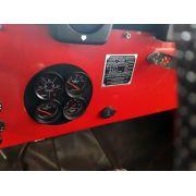Kit Manômetro Relógio Sinaleira Jeep Willys Cj5 1955... Street Preto - 4 Itens