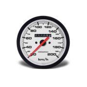 Velocimetro 100mm Mecânico W 0,5 200kmh - Street Branco