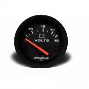 Voltímetro Bateria Street Preto 52mm Led - Cronomac