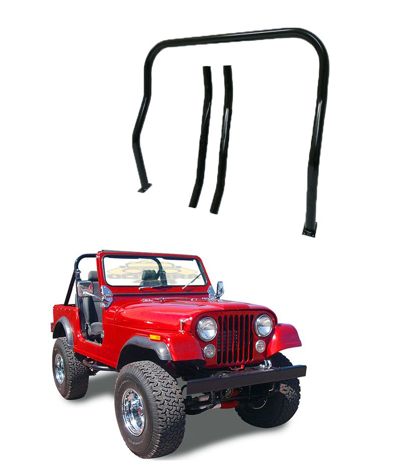 "Arco Maceral Da Gaiola Dianteira 2"" ½ x 3mm P/ Jeep Willys Cj5"
