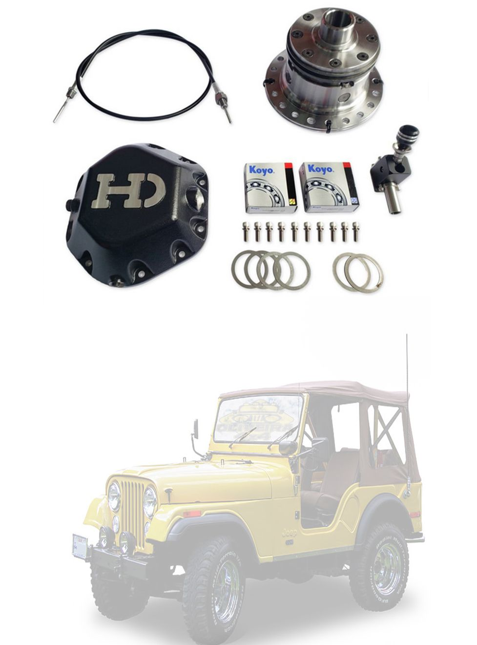 Bloqueio Diferencial HD Jeep Willys/ Rural/ F-75 - Dana 44