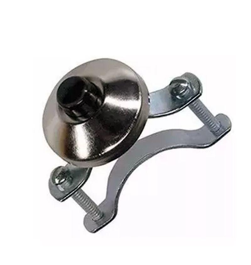 Botão De Buzina Universal Com Espelho Niquelado Ma2001