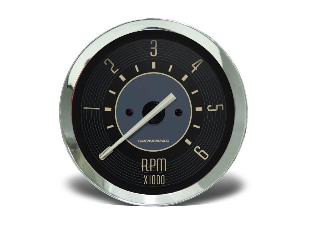 Contagiros Relógio 100mm 6.000 RPM VW Fusca/ Kombi/ Brasilia