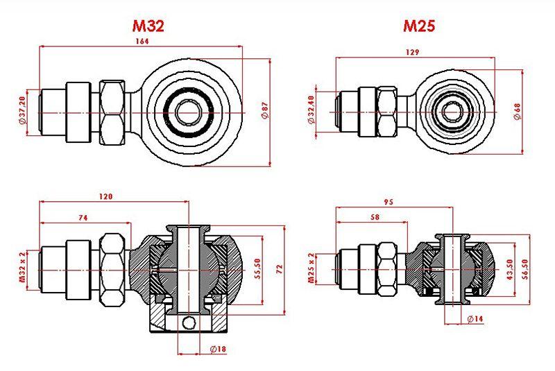 Creeper Joints Hd P/ Adpção De Terminais  Direção/ Rosca M32