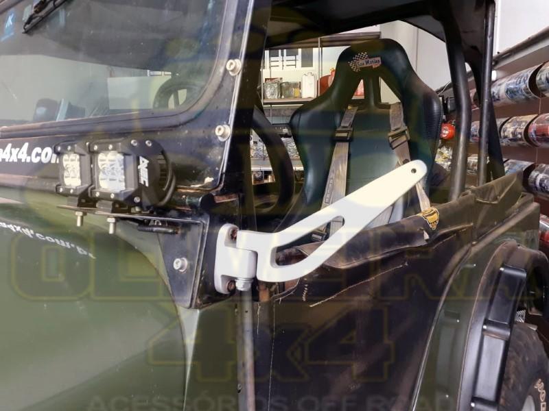 Espelho Retrovisor Do Toyota Bandeirante 1983 em diante  S/ Braço - Par
