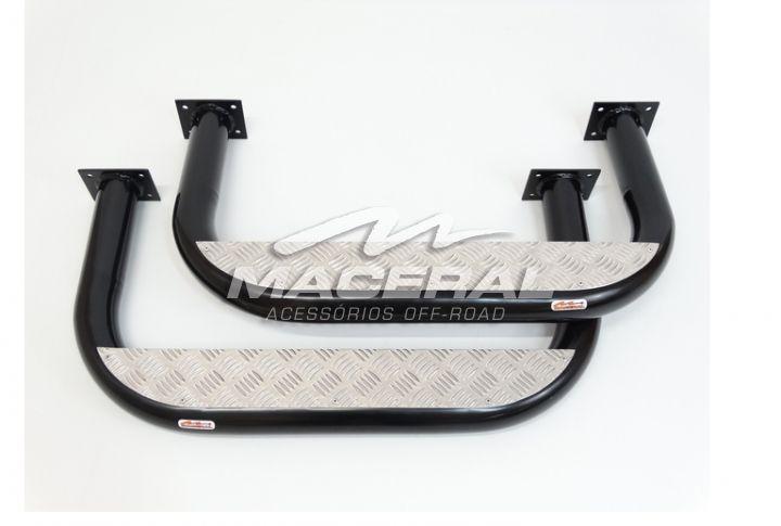 "Estribo Xadrez 2 ½"" (P1,5mm) 51/54 Aluminio  Jeep Willys Par"