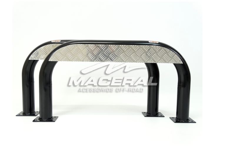 "Estribo Xadrez 3"" (P. 1,5mm) Aluminio - Jeep Willys Par"