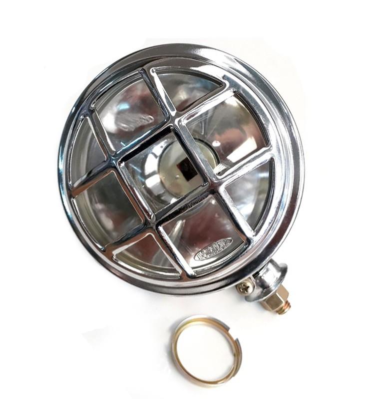 Farol e anel H4, Adaptaçao Moto Custon/ Triciclo 158 mm - Cr