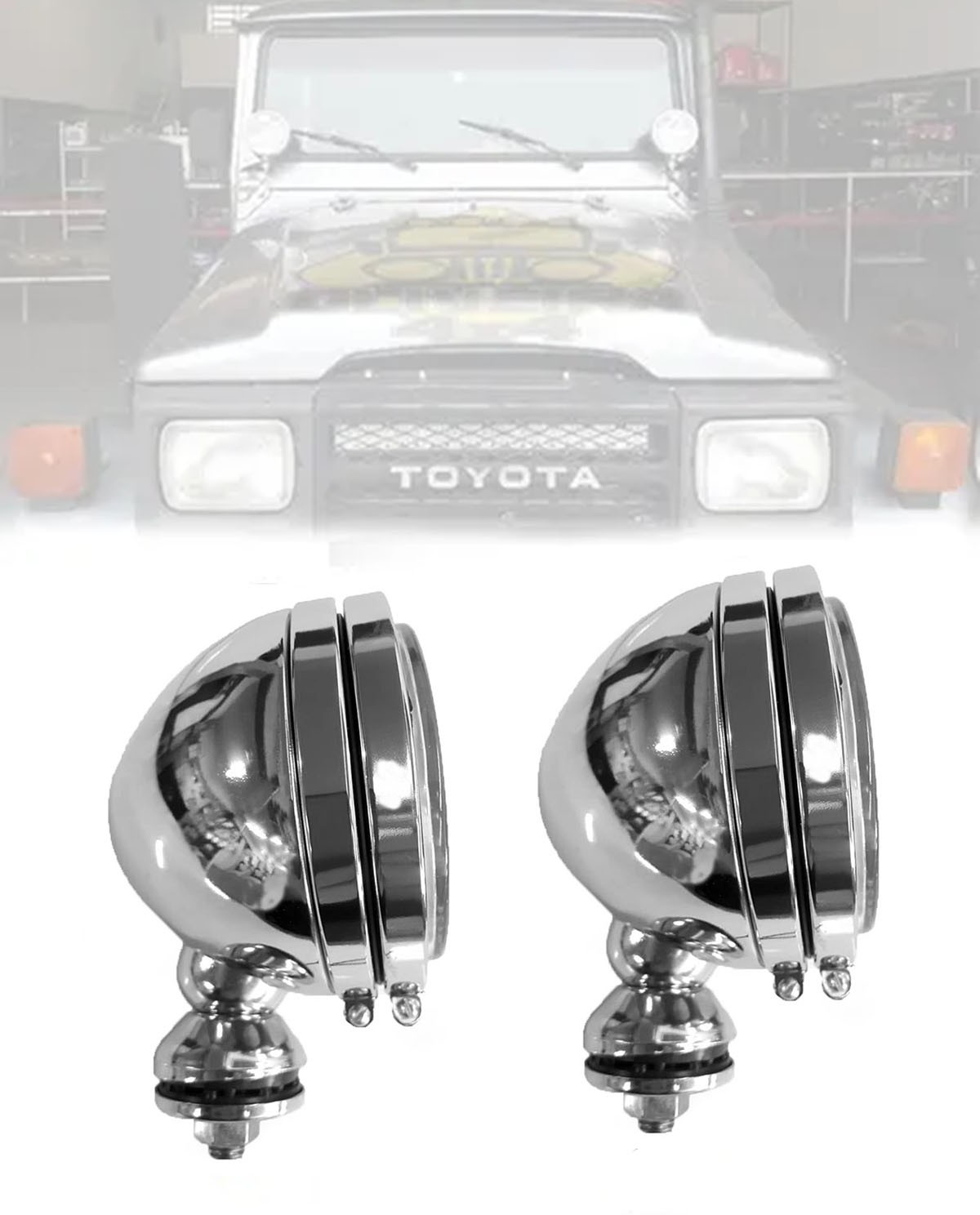 Farol Milha 136mm H3 Cromado Toyota Bandeirante - O PAR