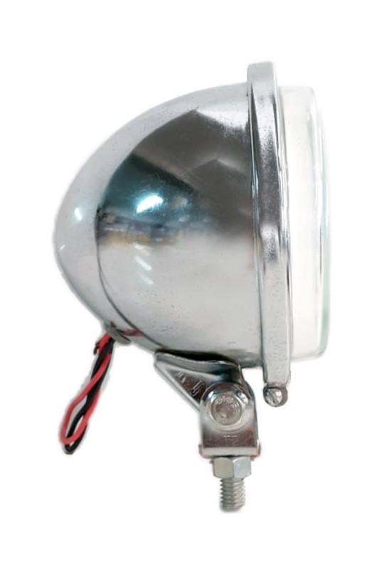 Farol Milha Bojudo Comado C/ Lâmpada H3 - P/ Adaptar (carcaça Aço) 115mm
