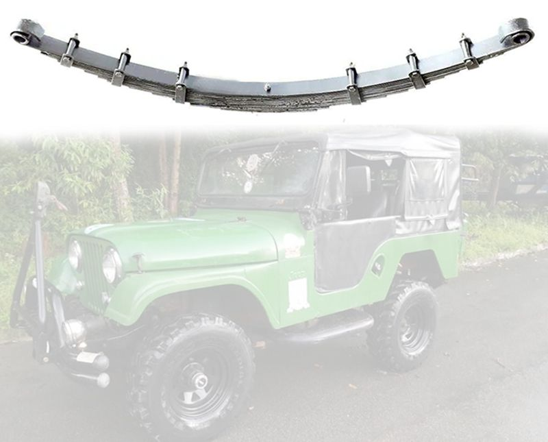 Feixe De Mola Traseiro Para Jeep Willys 1955/ 1979 - Feixe 13 Folhas