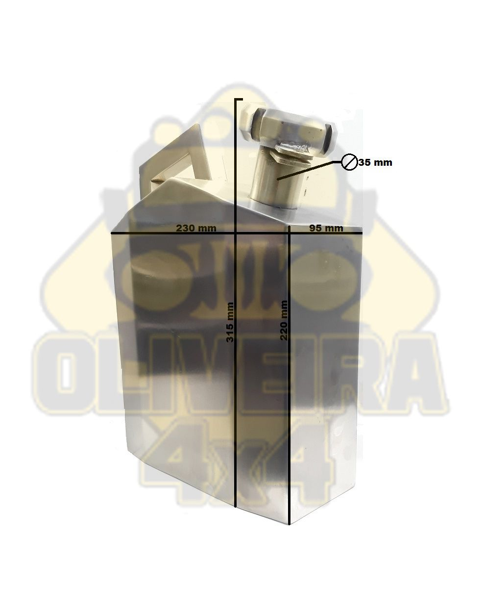 Galão Reservatório De Combustível Reserva 05 Litros Inox