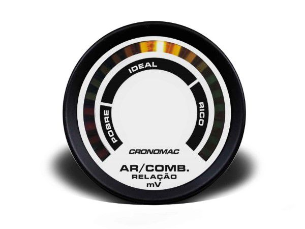Hallmeter 52mm Comum - Street Branco