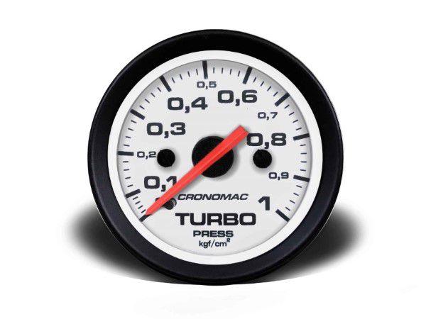 Indicador Turbo 52mm Mecânico 1 kg - Street Branco