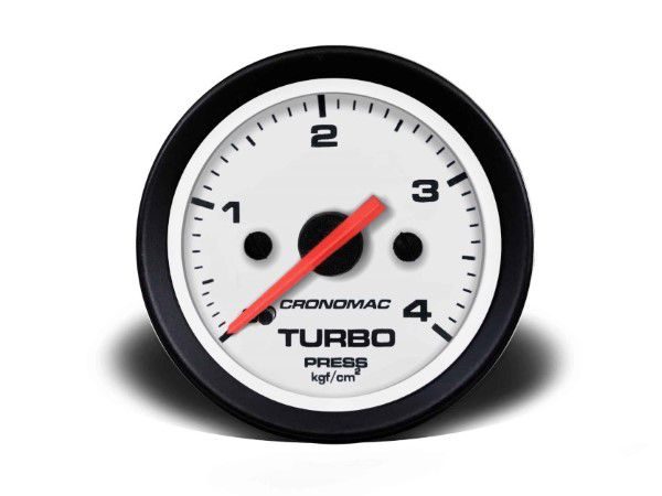 Indicador Turbo 52mm Mecânico 4 kg - Street Branco