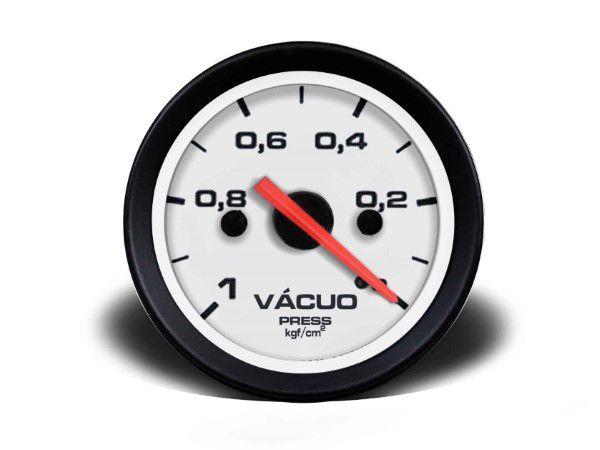 Indicador Vacuo 52mm Mecânico - Street Branco S Faixa