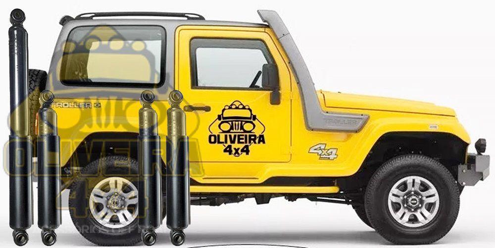 Amortecedor Dianteiro Traseiro Troller T4 2001/ 2014 - Jogo 4 Unidades