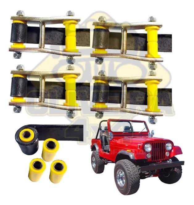 kit 4 Jumelo Alto + 4 Bucha Jumelo Algema Jeep Willys, Cj3/5