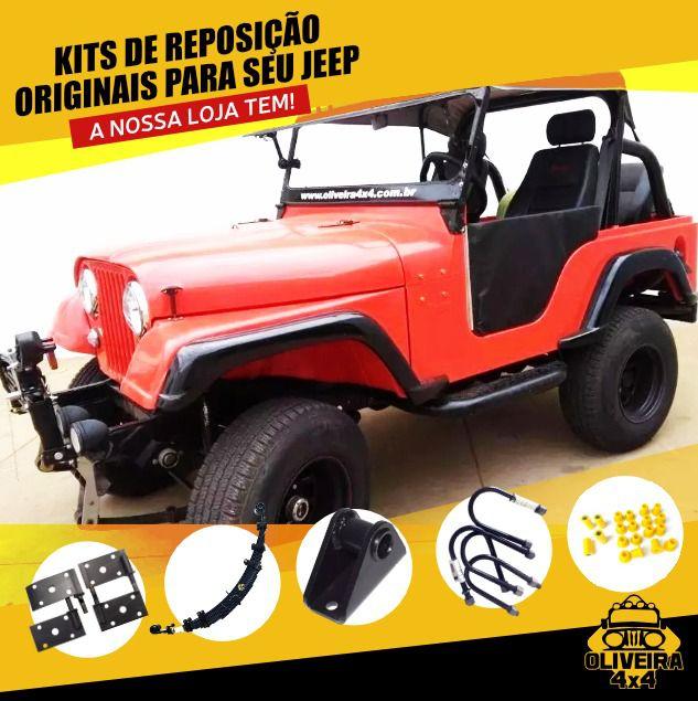 "Calço Carroceria Santoprene 1"" 1/2 Jeep Willys - 12 Peças"