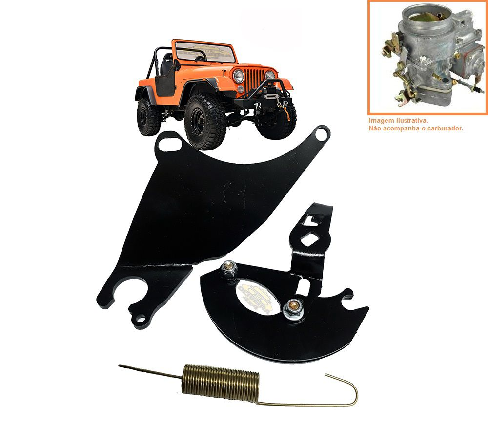 Carburador P/Pedal Acelerador Susp. H40/ Jeep Willys 4cc Jogo