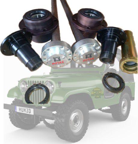 Kit De Eixo Flutuante Traseiro Jeep Willys