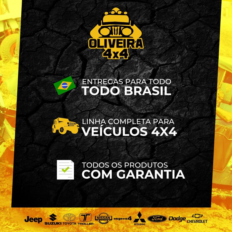 Kit Luva + Ponteira + Garfo Cardan + Cruzeta Cardan Jeep Willys/ Rural/ F-75