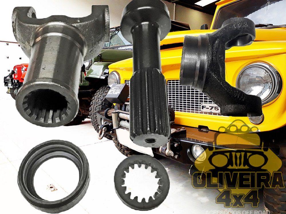 Kit Luva + Ponteira + Garfo Cardan Jeep Willys/ Rural/ F-75