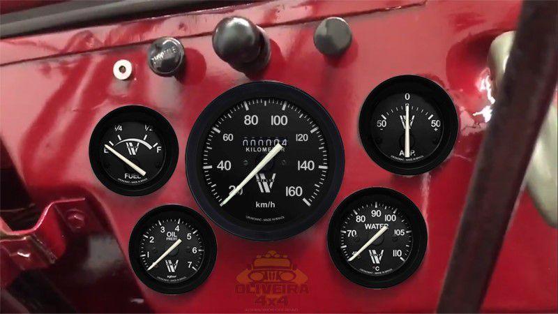 Kit Manômetro/ Relógio Jeep Willys Cj3A/ CJ3B 1951/ 1954 - 5 Itens