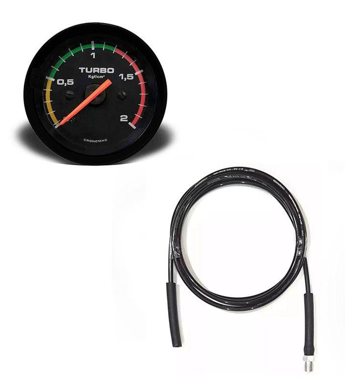 Kit Manometro Relógio Press Turbo 2kg + Kit Inst. Troller T4