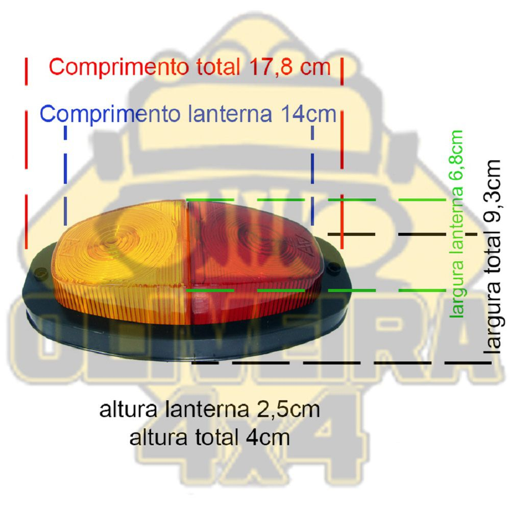 Lanterna Canoinha P/ Reboque Carretinha Adaptacão - Gf0205bi
