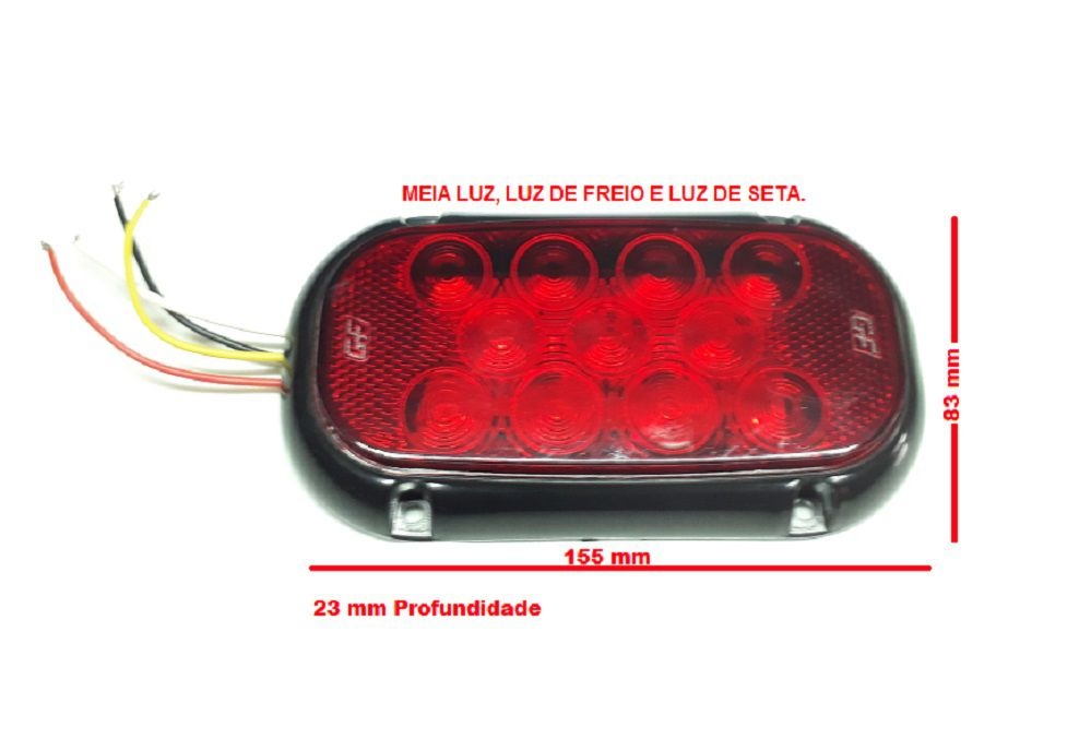 Lanterna Traseira De Led - Carreta/reboque - Prova D´água