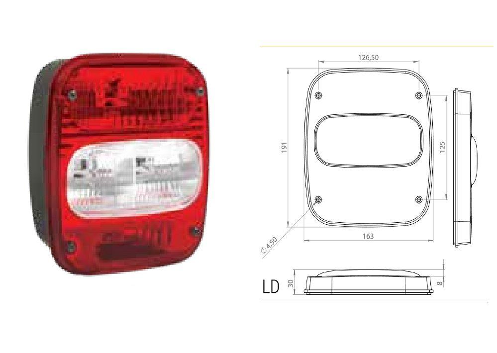 Lanterna Traseira Troller T4 - Sem Vigia