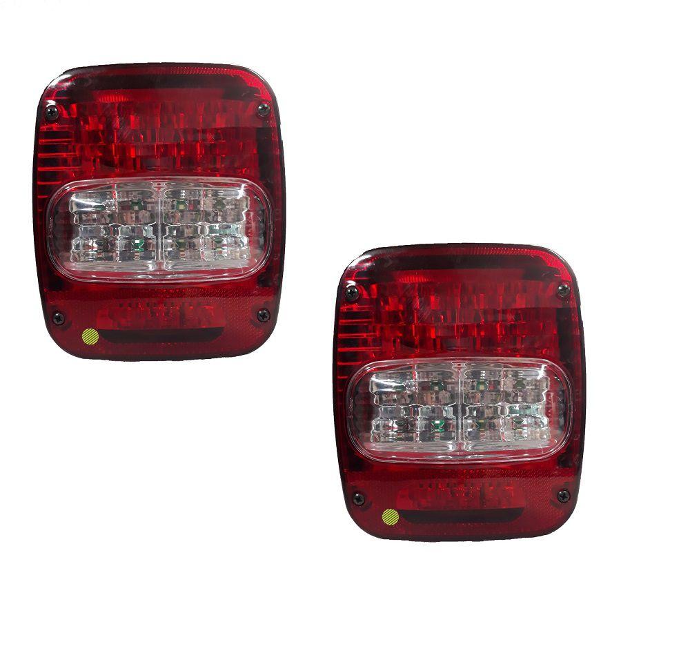 Lanterna Traz. De Led, Troller T4/ Caminhão Vw, Mb, Ford - Par