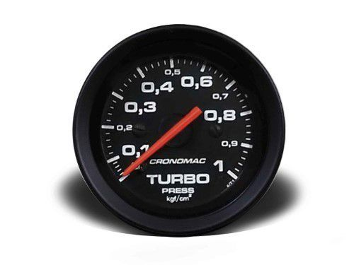 Manometro Turbo 52mm Mecânico 1kg - Street Preto