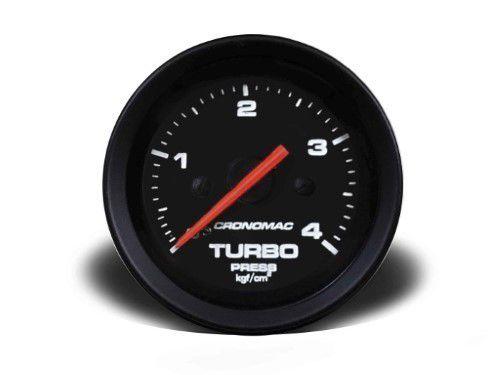 Manometro Turbo 52mm Mecânico 4kg - Street Preto