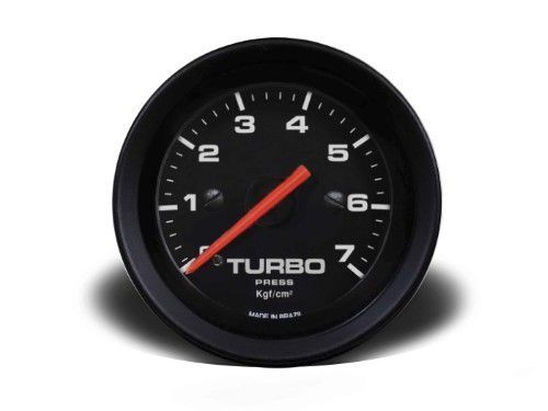 Manometro Turbo 52mm Mecânico 7kg - Street Preto