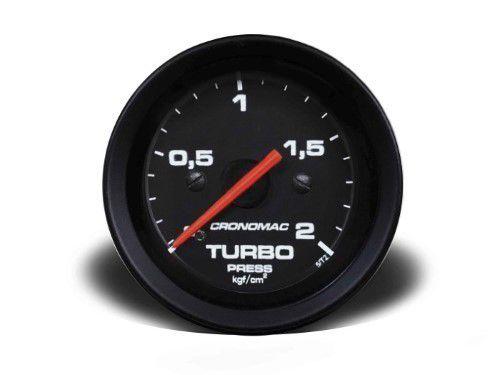 Manometro Turbo 60mm Mecânico 2kg - Street Preto
