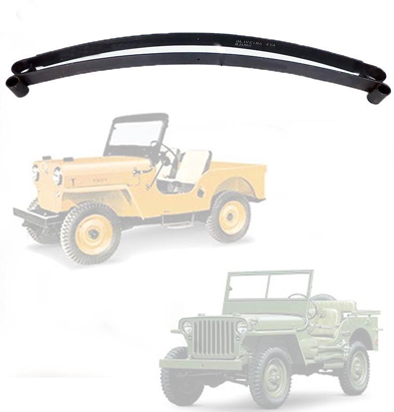 Mola Mestra E 2ª Folha Traseiro Jeep Willys CJ3 1945/ 1954